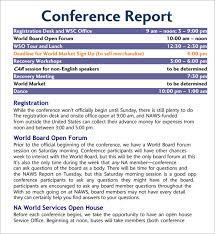 conference report template conference report template fieldstation co