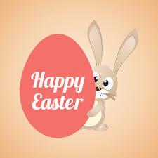 happy easter cartoon banner vector download