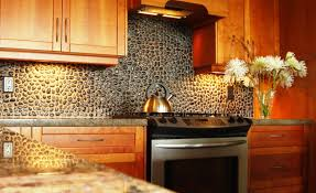 design stunning stacked stone backsplash home design ideas