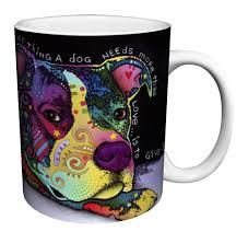 amazon com dean russo dog love quote modern animal art porcelain