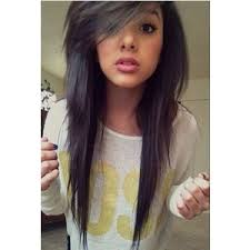haircut styles longer on sides cute long straight emo haircut with side swept bangs hair for