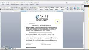 Assignment Cover Sheet by Ncuone Assignment Coversheet Youtube