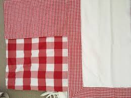 red and white gingham children u0027s bed linen set in hale