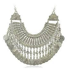 silver boho necklace images Boho silver necklaces amazon co uk jpg