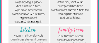 spring cleaning tips clean house tips how to keep a clean home handy planner and list