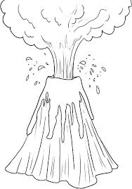 coloring pages volcano amazing erupting volcano coloring page netart