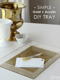 diy tray easy diy glitter and acrylic tray rosyscription