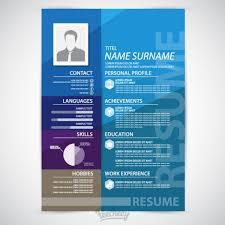 Adobe Illustrator Resume Template Blue Resume Template Free Vector In Adobe Illustrator Ai Ai