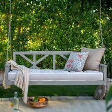 belham living cari bay deep seating porch swing bed with cushion