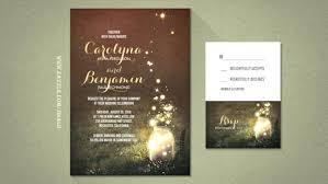 wedding invitations walmart firefly wedding invitations jar and fireflies wedding