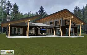 contemporary style home samuelson timberframe design golden british columbia canyon