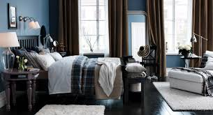 bedroom divine design ideas using tosca loose curtains and