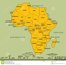 Africa Map Of Countries by Map Of Africa With All Countries Stock Vector Image 90875958