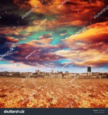 apocalyptic landscape global warming concept dry stock photo