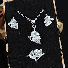 pendant necklace earrings images New fashion women jewelry set 925 silver crystal pendant necklace jpg