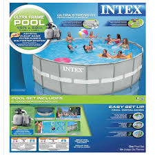 Intex Swimming Pool Pumps And Filters Intex Above Ground Pools Pools U0026 Pool Supplies The Home Depot