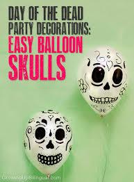 dia de los muertos skull balloons escuela dia de