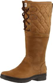 ugg sale zappos lyst ugg elsa deco quilt boots in brown