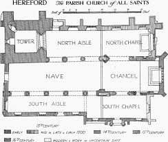 All Saints Church Floor Plans by Hereford History