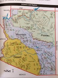 Jerome Arizona Map by 3 Regions Of Arizona By Rebeckah Winans