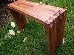 small cedar dovetail garden bench thecarpentershands small garden