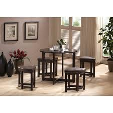 Rochester Dining Room Furniture Baxton Studio Rochester Brown Modern Bar Table Set With Nesting