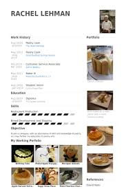 Pastry Chef Resume Example by Cook Resume Samples Visualcv Resume Samples Database