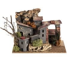 nativity setting village with cardboard houses online sales on