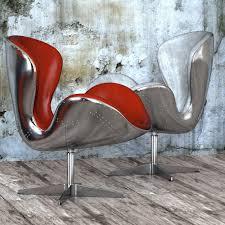 seat spitfire swan chair aviator 5 colors 3d model max obj fbx mtl
