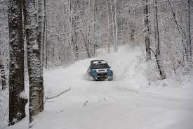 subaru rally snow first slide 2014 subaru wrx sti rally america race car motor trend