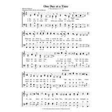 One Day At A Time by One Day At A Time Pdf Song Sheets