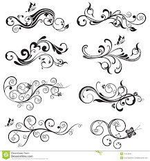 beautiful flower and butterfly silhouettes design stock vector