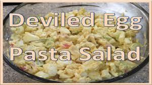 pasta salad with mayo deviled egg pasta salad recipe youtube