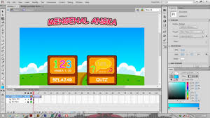 membuat web interaktif tutorial membuat multimedia interaktif mengenal angka actionscript 2