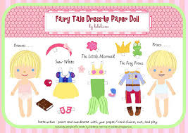 babalisme fairy tale paper doll printable