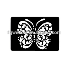 hollow butterfly design small henna stencil diy