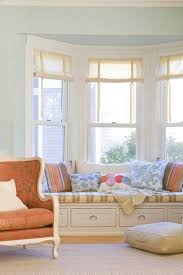 gorgeous decorate bay window ideas featuring chic rolling blinds