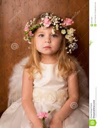 portrait of little with angel wings royalty free stock image