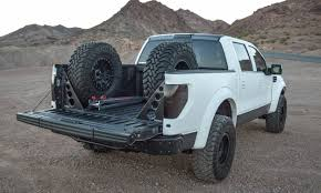 ford raptor jump 2009 2014 ford raptor svt f 150 two tire carrier with bed braces