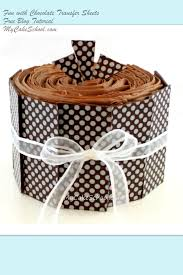 chocolate transfer sheets polka dotted fun my cake