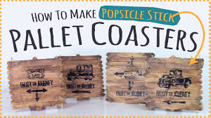 popsicle stick kids craft how to make pallet coasters