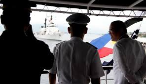 Flag Officer In Command Philippine Navy Aquino Leads Welcome Ceremony For New Warship Brp Ramon Alcaraz