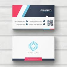 blue and white business card psd file free