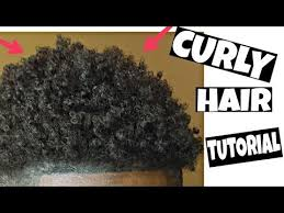 make african american men hair curly how to get natural curly hair black men tutorial youtube