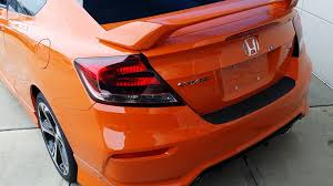 Honda Civic Si Two Door 2015 Civic Si 2 And 4 Door Orange Youtube