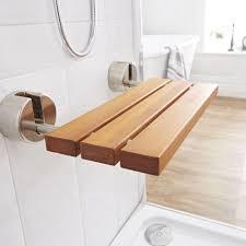Teak Folding Shower Bench Luxury Bengal Teak Folding Shower Seat With Brushed Nickel Brackets