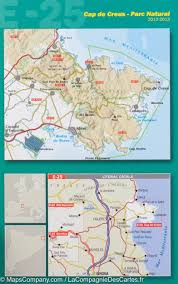 Catalonia Spain Map by Hiking Map Cap De Creus Catalonia Spain Editorial Alpina