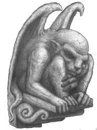 grey ink stone gargoyle statue tattoo design tattooimages biz