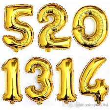 number balloons delivered new arrival large number foil balloon 16 inch balloon 0 to 9