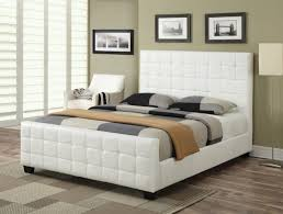 White Leather Bed Frame King White Leather Bed Frame King Excellent Whiter Headboard Single